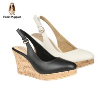 Hush Puppies Sandal Wedges Wanita Freeda Slingback KC43633 | Available 2 Color
