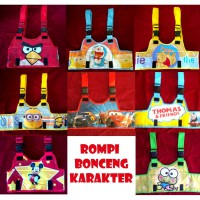Rompi Bonceng Karakter (Sabuk bonceng model Rompi) Hello Kittty, Angry Bird, Cars, Doraemon, Mickey, Minnie, Minion, Pooh dll