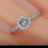 Cincin Moissanite Diamond 1.05ct Engagement Wedding Ring .925 Sterling Silver lab created