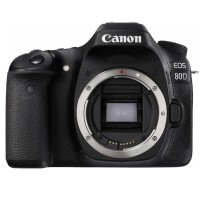 Canon EOS 80D Body - 24MP - Hitam