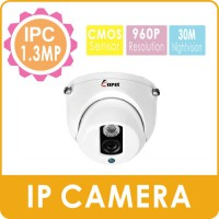 [globalbuy] KEEPER Indoor Dome Vandalproof Security IPC ONVIF 960P H.264 1.3MP IR Cut Surv/3574633