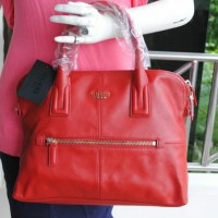 guess genuine leather - red luxe collection