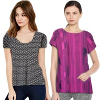 The-Fahrenheit Carly Knit Stretch Tee