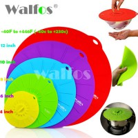 [globalbuy] WALFOS Silicone Cooking Food Storage Suction Lid Microwave food cover Splatter/3570632