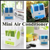 [Free Ongkir] Mini Air Conditioner Fragrance Double Fan / AC Duduk Mini 2 Fan