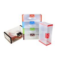 My Shoes Box Transparent New Model Kotak Sepatu [Randowm Color] dengan Pegangan Tangan