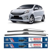 Bosch Sepasang Wiper Mobil Toyota Agya Frameless New Clear Advantage 20' & 14' - 2 Pcs/Set