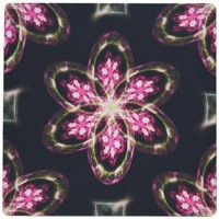 [worldbuyer] 3dRose 3drose Neon Light Pink Flower Floral Fractal Art Pattern - Mouse Pad/1169470