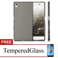 Case For Sony Xperia T3 - Abu-abu + Gratis Tempered Glass - Ultra Thin Soft Case