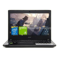 Acer E5-475G-52GU (Core i5-7200U,Ram4GB(Ddr4),Hdd1TB,Nvidia Geforce 2GB(940MX-G DDR5),Dos,Layar 14')