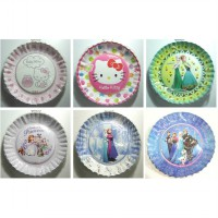 Piring Kertas Kue Tart Karakter Disney Hello Kitty, Princess, Frozen, Sofia The First - P 02