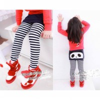 ~Cutevina~ Girls Panda Stripped Legging