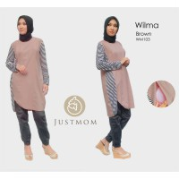 Just Mom baju menyusui Tunik Wilma Brown – WM103