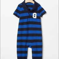 Shocking Deals Long Romper Baby GAP Stripped Blue