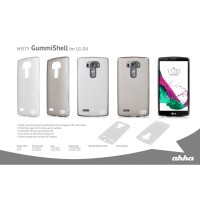 AHHA Moya GummiShell Soft Jacket LG G4 Clear-Black