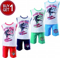 setelan anak/SOCCER LEAGUE/size2,4,6/cotton/ buy 1get1