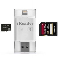 iReader USB OTG Drive 3 in 1 Card Reader for Android IOS iPhone 5 5s 6 6+ iPad Tablet