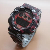 Jam Tangan Pria / Cowok Fortuner Original FR2095 Army Rubber Grey Red