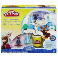 Play Doh Sparkle Snow Dome Set with Elsa and Anna Disney Frozen