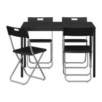 IKEA (R) - TÄRENDÖ / GUNDE Table and 4 chairs 110Lx67Wx74H Black/Hitam