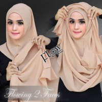 Hijab/Jilbab pastan 2face flowing diamond