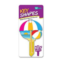 [worldbuyer] Lucky Line Products Key Shapes, Beach, KW1, 5/Box, Multi Color (B113K)/425274