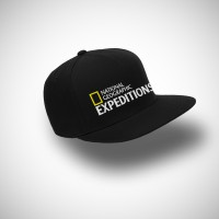 Topi Snapback National Geographic Expeditions - Hitam