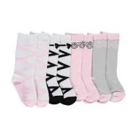 Luvable Friends Knee High Socks 4 Pack / Ballet