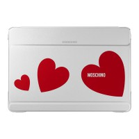 Samsung Galaxy Note Pro 12.2 Moschino Book Cover White/Red Heart