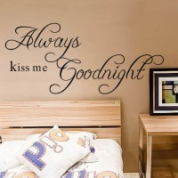 [globalbuy] Always Kiss Me Goodnight Loving Art Wall Decal Removable Decorative Vinyl Stic/3395085