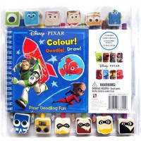 [HelloPandaBooks] Disney Pixar Doodling Fun! Book & Pencil-Eraser Set