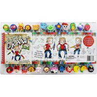 [HelloPandaBooks] Quick Draw Kid Book & Pencil-Eraser Set