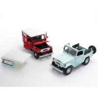 Die Cast Motor Max Toyota FJ40 Land Cruiser 1/24 Scale Platinum Collection Open Cup