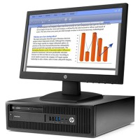 HP EliteDesk 705 G2 Small Form Factor PC - Free HP V193b 18.5' LED Monitor