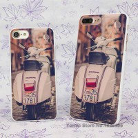 [globalbuy] scooter piaggio street road_ rome italy Design hard White Skin Case Cover for /3776704