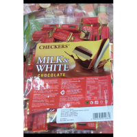 Checkers Milk & White Chocolate Coklat Susu & Putih 400gr