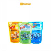 Paket 3 Pcs Cling Glass Cleaner  Ocean Fresh/Lemon Fresh/Apple Fresh - 425 ml