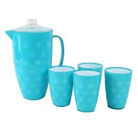 Atria Acrylic Pitcher Set Tone Blue
