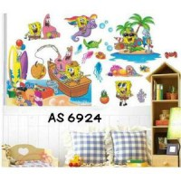 Wallsticker Uk.60x90 Wallstiker Spongebob AS6924