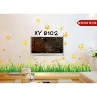 Wallsticker Uk.50x70 Wallstiker Rumput Bunga Kuning