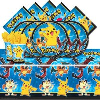 [poledit] Balloons and Party Pokemon Pikachu & Friends Birthday Party Tableware Pack for 1/12124530