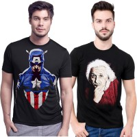 (GET 2 PCS) KAOS PRIA/MEN TSHIRT/KAOS SPANDEK/PRINTED TEES/ALL SIZE/SUPERHERO/MARVEL/AVENGER
