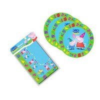 [poledit] Peppa Pig Birthday Party Supplies Set Large Plates & Table Cover Tableware Kit f/12123160