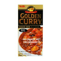 S&B GOLDEN CURRY SAUCE MIX NO MEAT CONTAINED/BUMBU KARI IMPORT JEPANG HOT/PEDAS KEMASAN 100gr