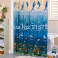 [globalbuy] Pvc bathroom curtain Thickening waterproof curtain bathroom shower curtain wat/3364546