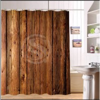 [globalbuy] BBE Vintage Rustic Old Barn Wood Custom Shower Curtain 66 x72 Waterproof Fabri/3364076