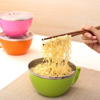 [globalbuy] Sistema Noodle Bowl Lunch Cup Box Stainless Steel Food Container Free Safe/3358763