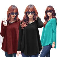 [FLAT PRICE] KOREAN STYLE ★ Long Sleeve LOOSE-FIT TEE / baju atasan wanita / blouse jumbo / tunic / longdress / pakaian wanita / long dress /baju kaftan