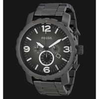 Fossil JR1437 Nate Chronograph Smoke Stainless Steel