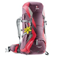 Deuter Tas Carrier Outdoor FUTURA PRO 34 SL Aubergine Fire Original